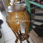 meja kayu ukir bulat